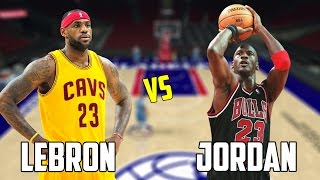 CAN LEBRON JAMES BEAT MICHAEL JORDAN IN A HALF COURT CONTEST! NBA 2K17 GAMEPLAY!