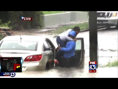 Memphis TV Reporter Rescues Woman From Flood