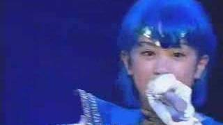 Kawabe Chieko singing Drive Me Mercury while rest of the senshi is ...