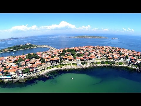 Flight over the Bulgaria - Top places, beaches, hotels & destinations, Panoramic HDvideo