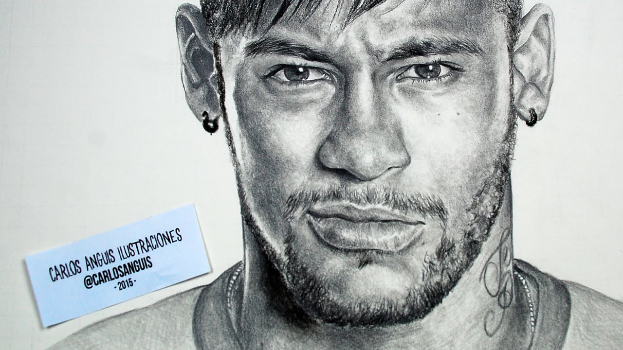 Drawing Neymar Jr - YouTube