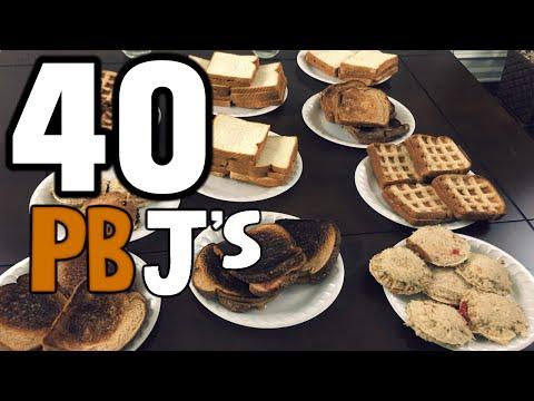 40 PBJ's, Made 4 Different Ways