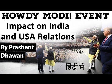 Howdy Modi Event Impact On India USA Relations Current Affairs 2019 #UPSC #IAS