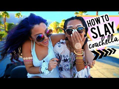 How to SLAY Coachella! What to Wear, Unique Hairstyles + DIY Body Art | Niki and Gabi