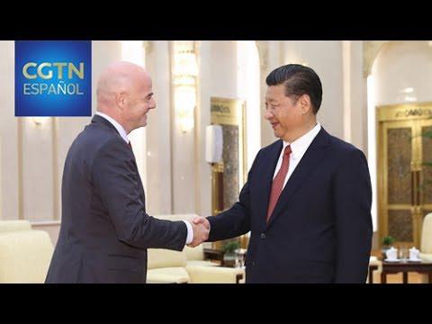 Xi Jinping se reúne con presidente de la FIFA