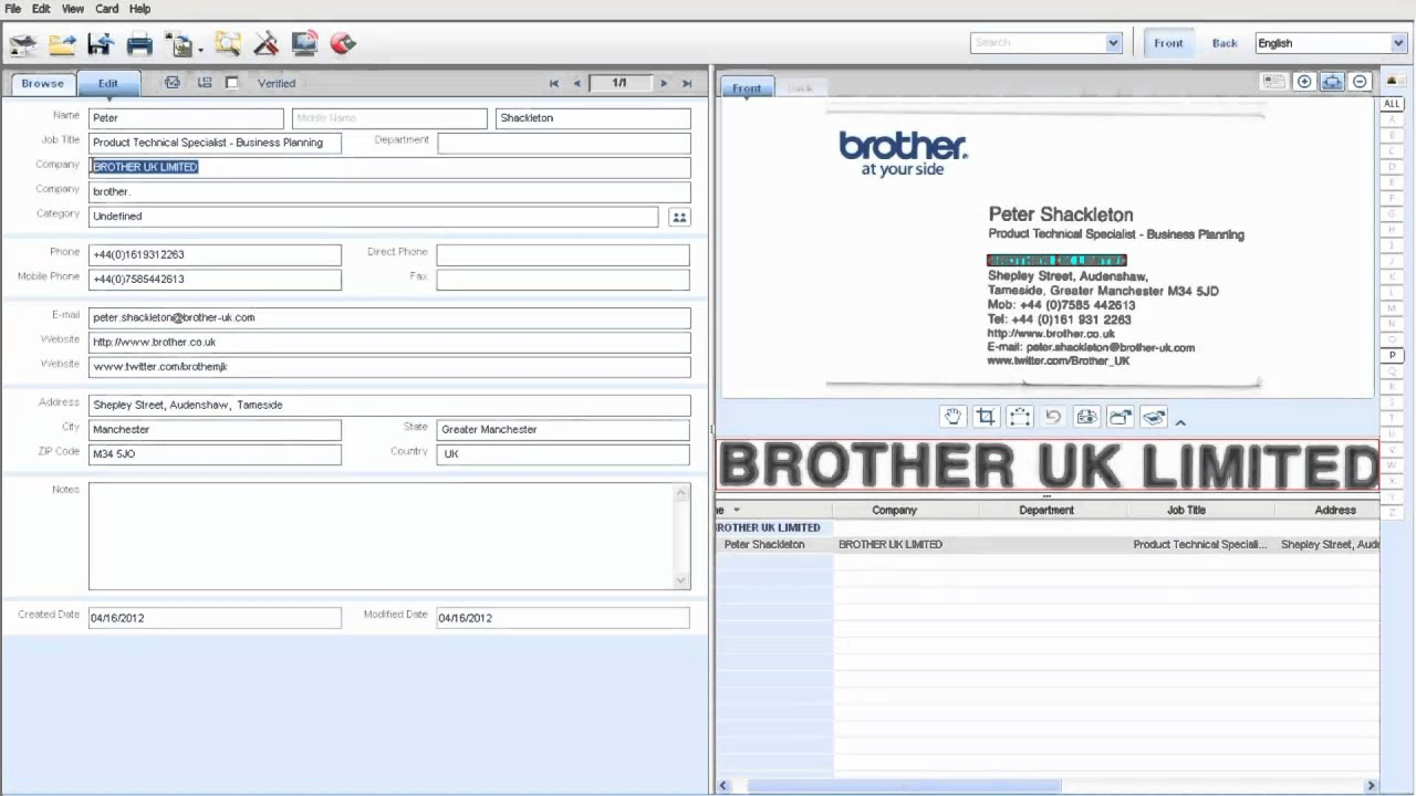 BMI Solutions - Brother D600 Mobile Scan Business Card Export to ...