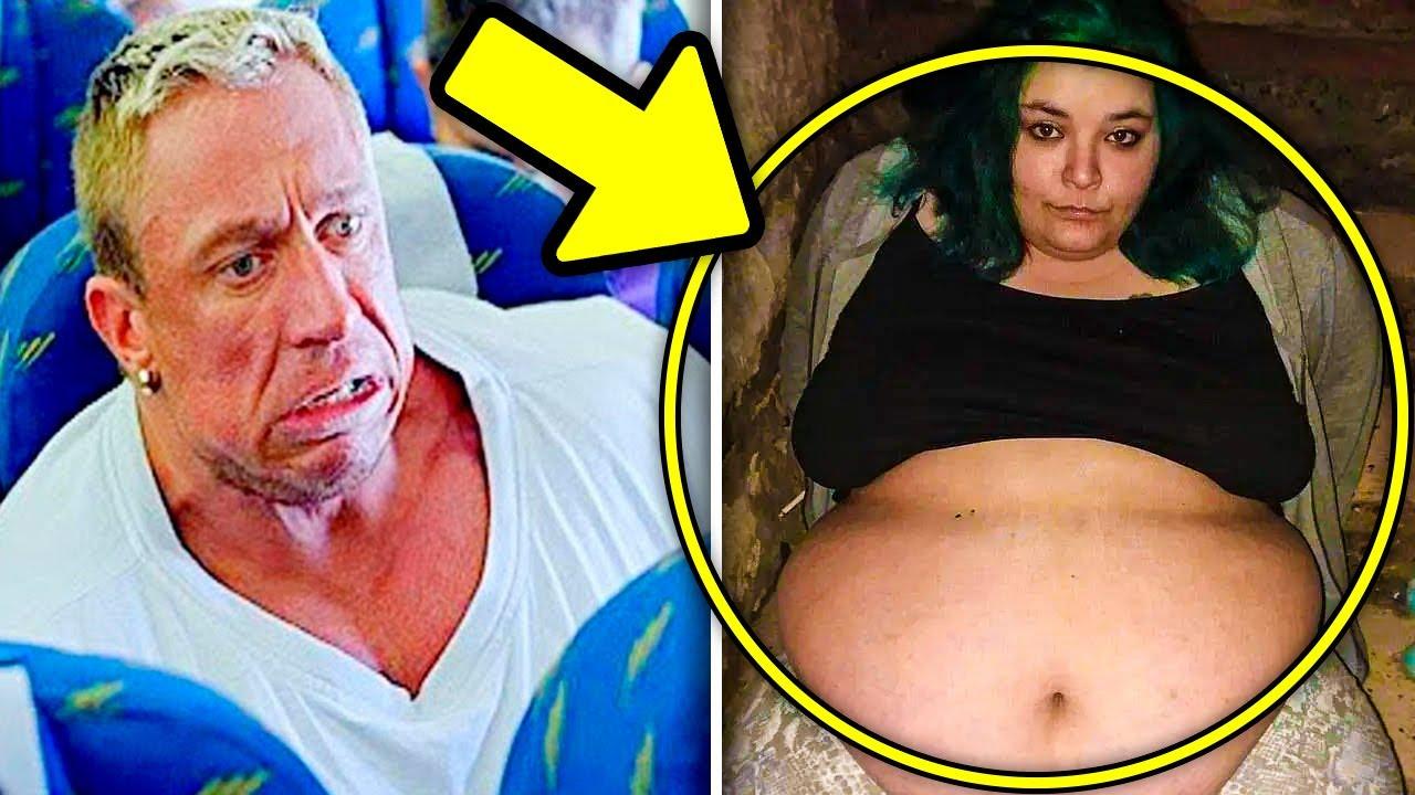 Homem Ofende Mulher Obesa No Avião, Mas Não Sabia Quem Estava Atrás Dele...