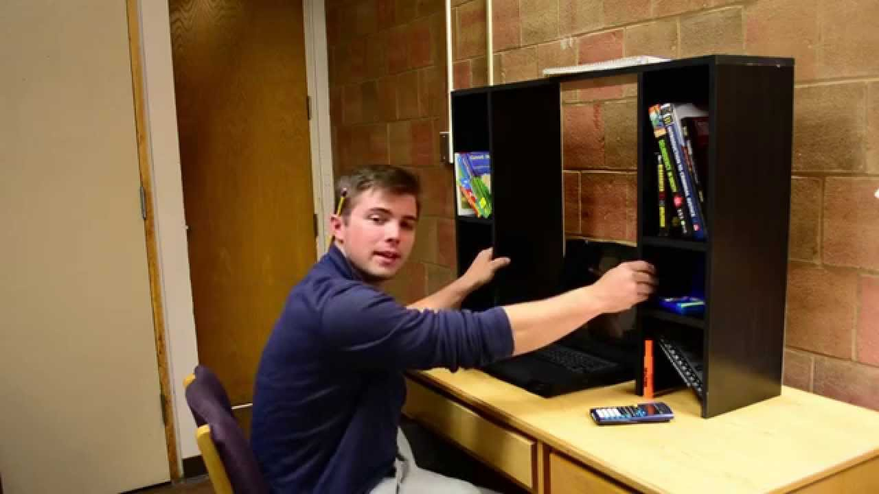 Dorm Desk Bookshelf  The Best Way To Add Space to Your