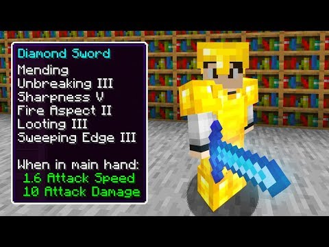 I Made The ULTIMATE Diamond Sword In Minecraft (very Op)