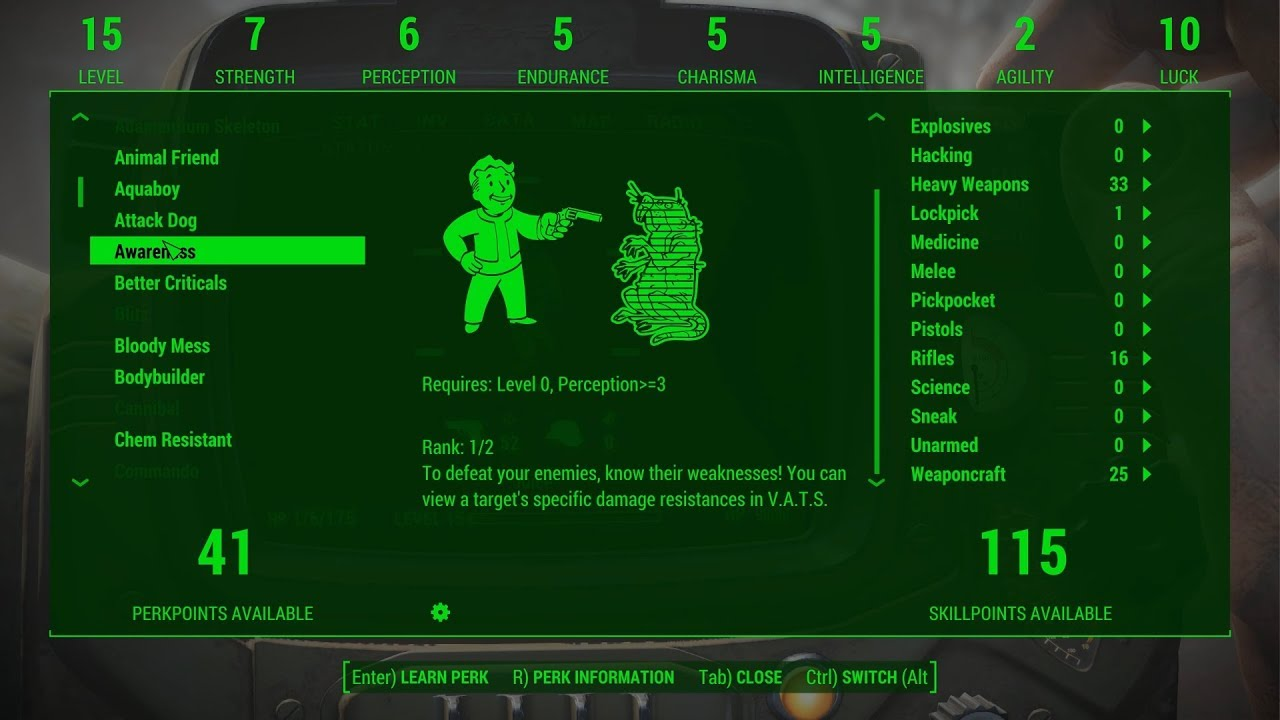 These Mods Brings Perks and Traits back to Fallout 4