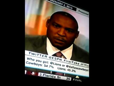Darren Woodson  talks on First Take - 1/2/15