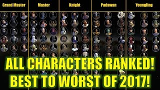 Star Wars Galaxy of Heroes: ALL Characters Ranked!! Best To Worst! (March 2017)