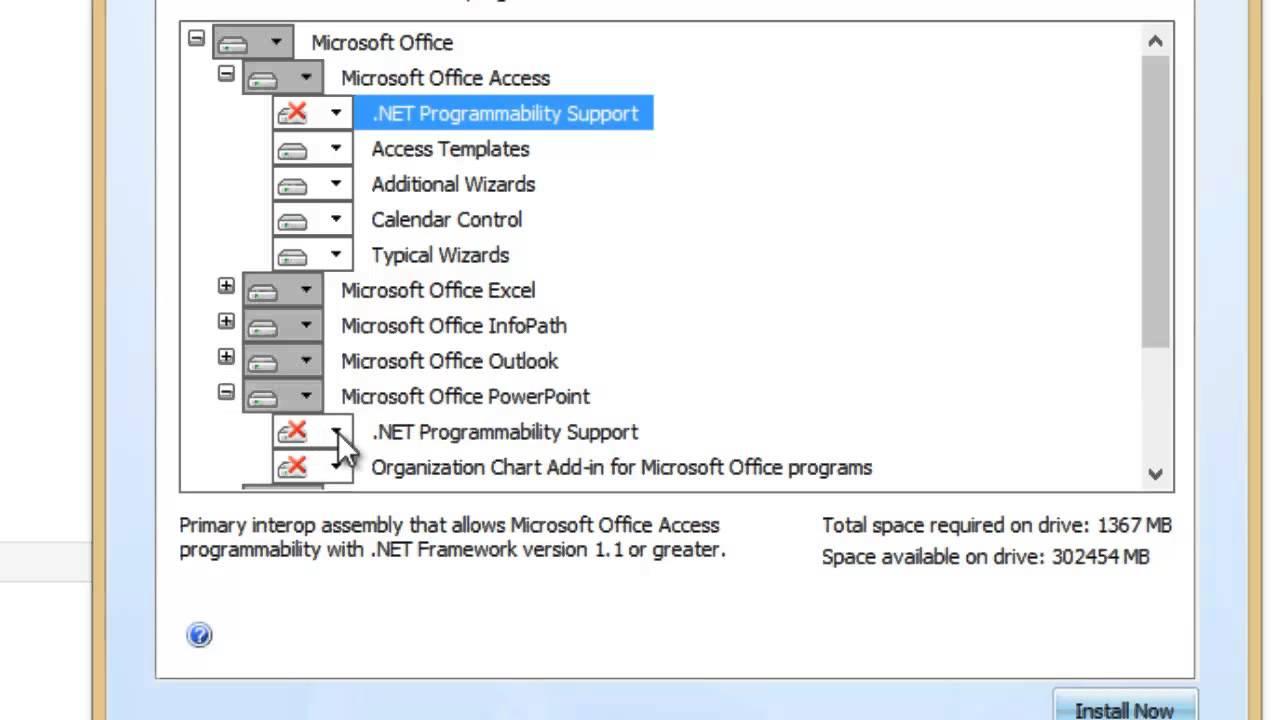 Microsoft Office .NET Programmability Support Not ...