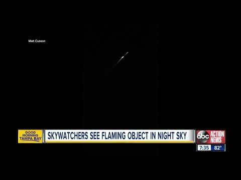 Large fireball caught on camera streaking across Florida's sky