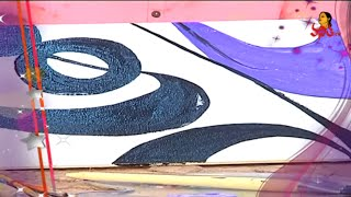 Easy & Simple Abstract Painting On Canvas In Acrylics | Designery Concept | Navya | Vanitha TV