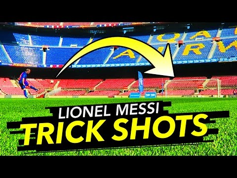 Tubes does Lionel Messi Trickshots at Nou Camp!