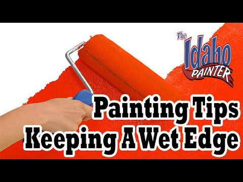 keeping a wet edge while rolling a wall proper paint rolling how to roll a wall youtube. Black Bedroom Furniture Sets. Home Design Ideas