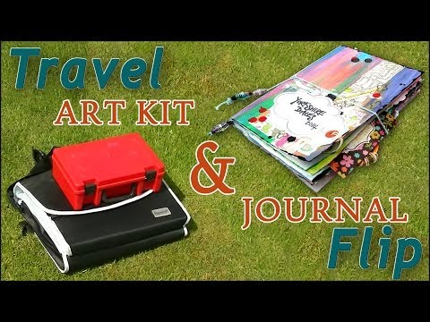 Travel Art Kit & Journal Flip