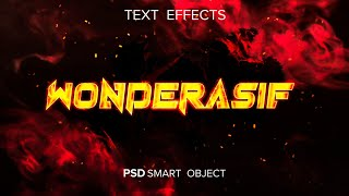 Fire Inspired Photoshop Text Effect || Free Download PSD Template