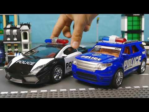 Полицейская машина сделала ловушку для преступника 382 Серия Мир Машинок