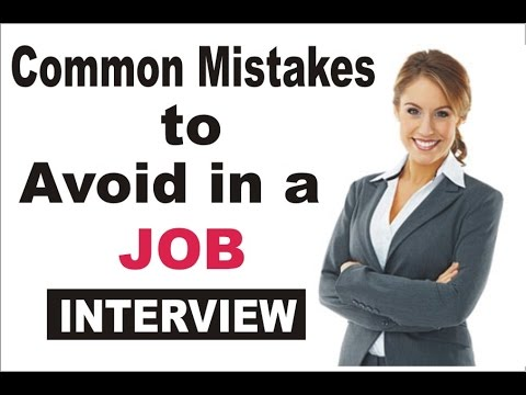 Common mistakes to Avoide In Job Interviews  || good answer to the tough questions||