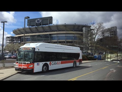 CATA (State College) HD 60 FPS: Red Link Round Trip Ride on New Flyer Xcelsior XN40 #14 (4/8/16)