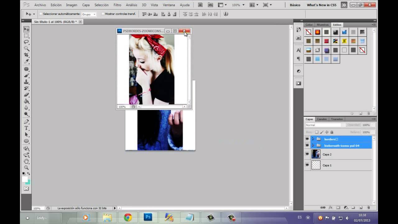♡Como hacer un icon con bordes BLANCO♡ - YouTube