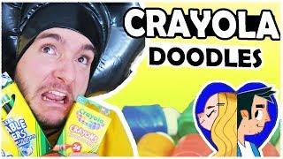 HUGE CRAYOLA HAUL .. We Found Under the Bed LOL. LETS DOODLE!!