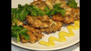 ВКУСНЕЙШИЙ рецепт РУБЛЕНЫХ КУРИНЫХ КОТЛЕТ с грибами/Что приготовить на ужин, на обед?