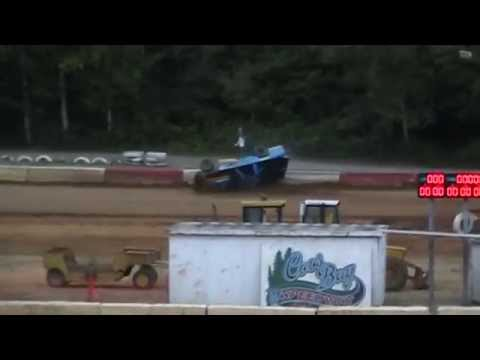 Sportsman Crash @ Coos Bay Speedway 6/30/15