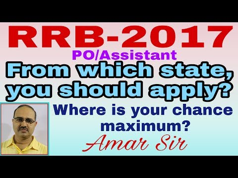 RRB-2017- Success Plan: Which state is the best to apply: Exclusively by Amar Sir