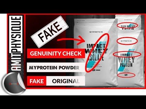 Fake MyProtein Protein Powder Vs Real | Impact Whey Protein Genuine Or Fake
