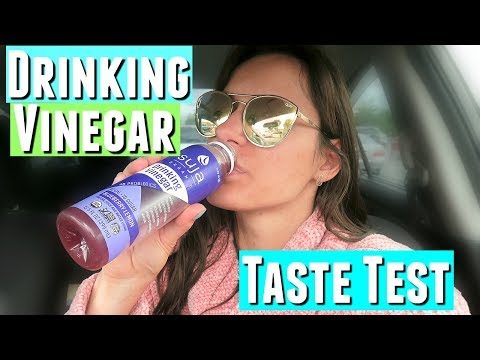 SUJA ORGANIC DRINKING VINEGAR TASTE TEST, drinking coconut vinegar taste test