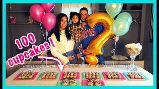 CUTEST SURPRISE GENDER REVEAL !!! (EATING 100 CUPCAKES) ARE WE HAVING A BOY OR GIRL? 👶🏻👧🏻