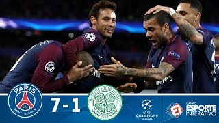 Melhores Momentos - PSG 7x1 Celtic - Champions League (22/11/2017)
