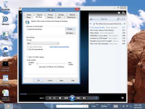Learn to Rip your CD Music Collection to Windows 8 mp3 format part 2