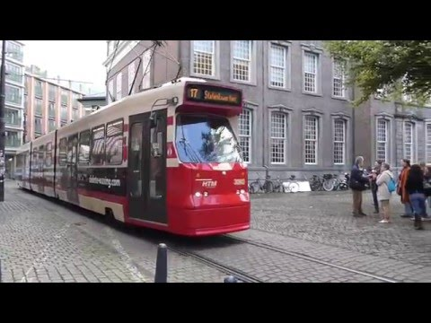 Trams in the Hague, Netherlands 2015