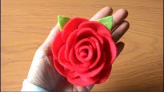 Ingin membuat bross atau aksesoris rambut? inilah cara paling mudah bunga mawar yang indah dan merekah dari bahan kain flanel. untuk ma...