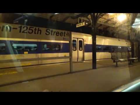 Metro North Railroad Hudson Line Audio from Grand Central Terminal to Croton-Harmon at Night