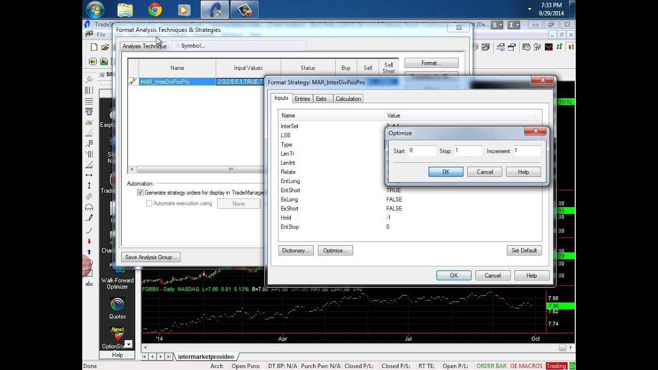 Creating a TradeStation Easylanguage Intermarket Trading Systems  (Strategies)