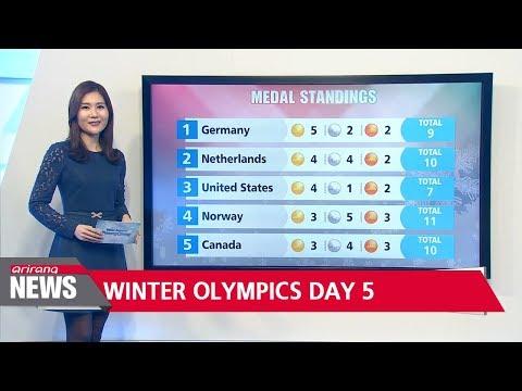 PyeongChang Winter Olympics Day 5