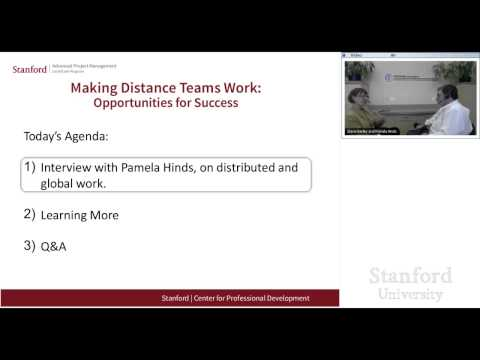 Stanford Webinar - Making Distance Teams Work: Opportunities for Success