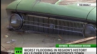 Dive for your stuff: Town destroyed in deluge, panic reigns
