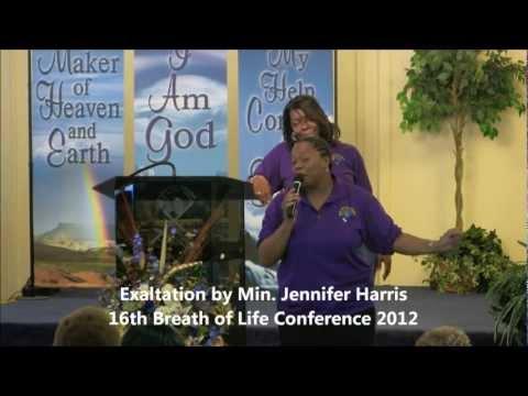 Min. Jennifer Harris, Exaltation at Breath of Life 2012
