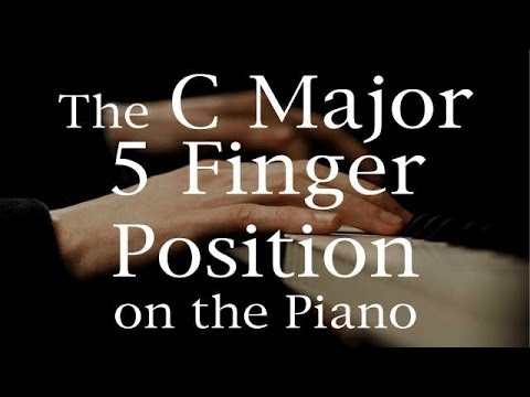 C Major Five Finger Position  on the Piano Keyboard
