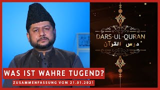 Was ist wahre Tugend?   21.01.2021