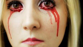 CRYING BLOOD SFX/ KRYOLAN EYE BLOOD Makeup Tutorial & Review