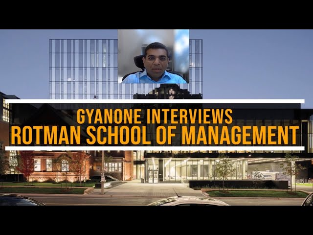 Rotman MBA Admissions | Rotman Scholarships | Interview with Rotman MBA Admissions Director