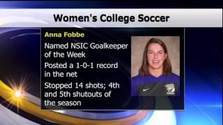 Anna Fobbe Named NSIC Goalkeeper of the Week - Lakeland News Sports - October 27, 2015