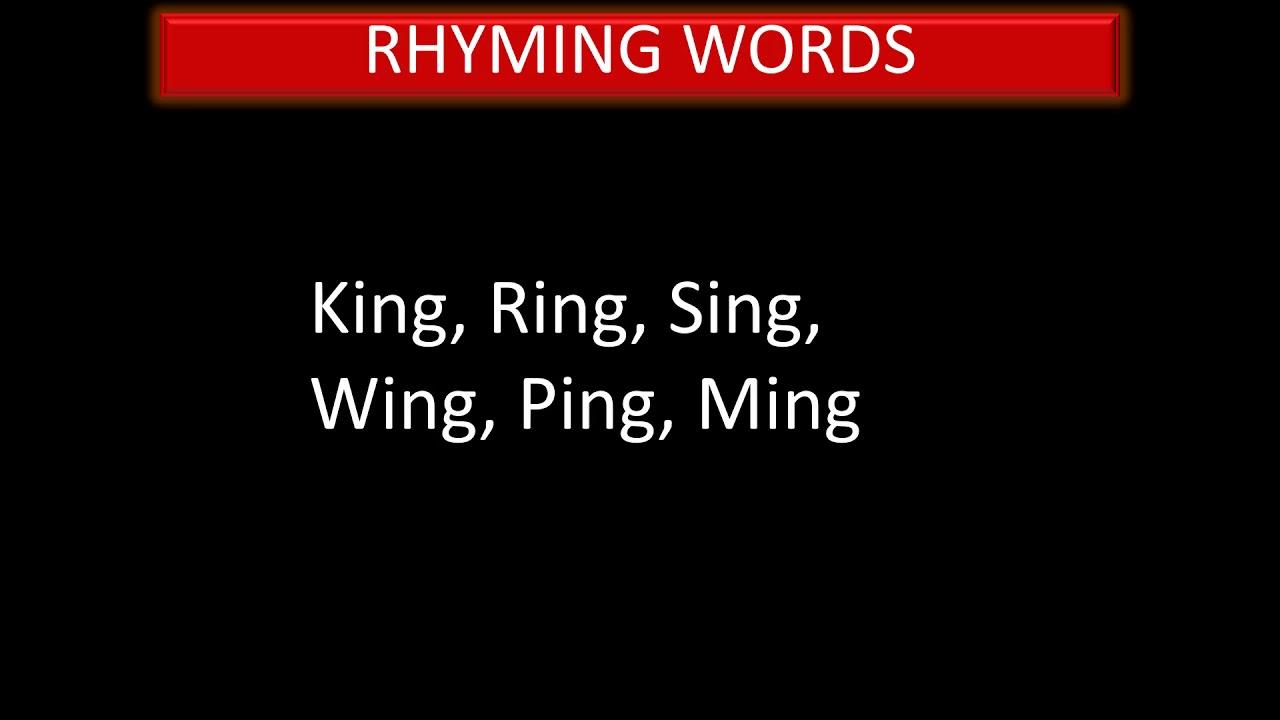 RHYMING WORDS - YouTube